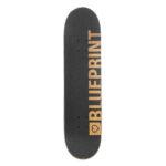 blueprint home heart complete skateboard gold1