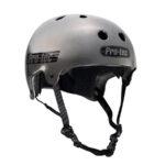 ProTec Old School Helmet Metallic Grey